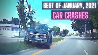 Craziest Car Crash Compilation: Best of January, 2021 \x5bUSA \\u0026 Canada Only\x5d