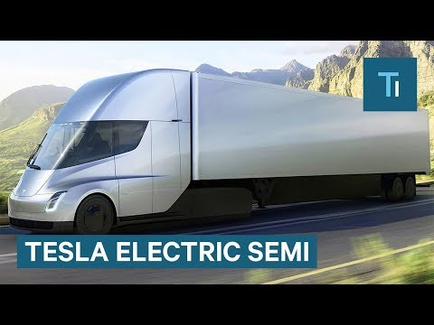 Thumbnail: Elon Musk Gives First Look At Tesla's Electric Semi
