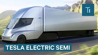 elon musk gives first look at tesla s electric semi