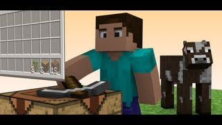 Steve and the Cow - A Minecraft Animation