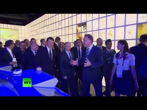 Путин и Ренци попробовали русский квас на международной выставке «Экспо-2015» в Милане