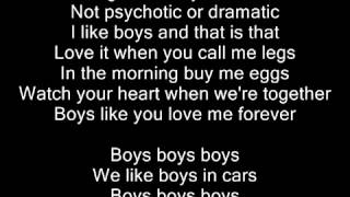 Lady Gaga   Boys Boys Boys   Lyrics on screen
