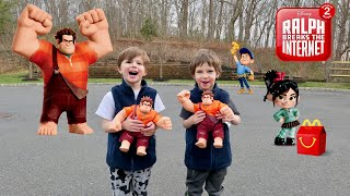 Ralph Breaks the Internet Surprise Toys. Save Vanellope and Happy Meals - Chase and Cole Adventures