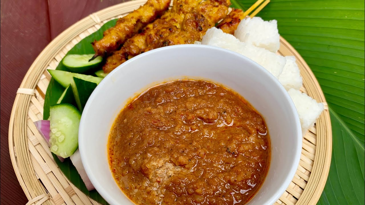 Easy homemade peanut sauce (for satay) 简单自制(沙爹)花生酱 kuah satay