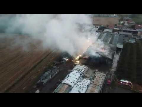 Incendio capannone agricolo a San Chiaffredo 17/10/2017