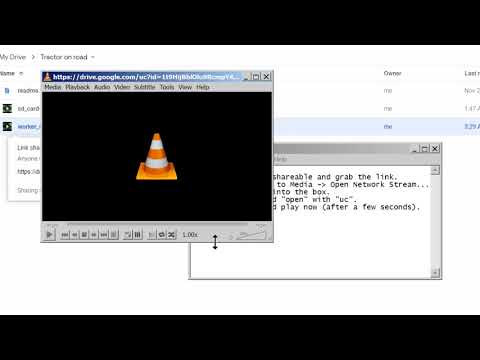 Play videos from google drive with VLC.