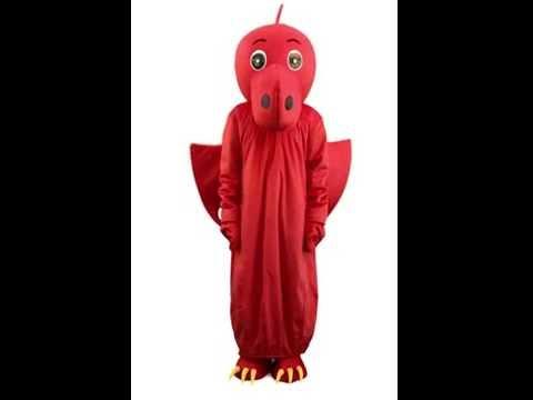 Red Dragon Mascot Costume