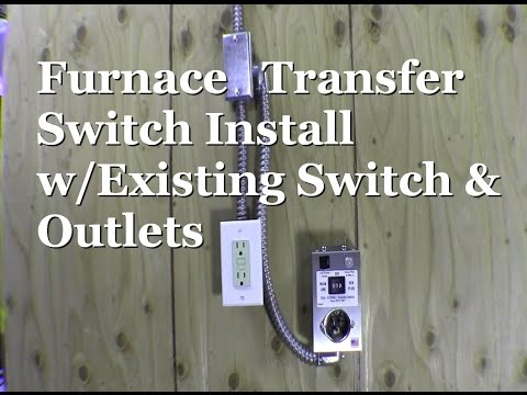 ricksdiy how to wire generator transfer switch to a gas furnace ricksdiy hts15 man furnace transfer switch install existing outlet receptacle installing