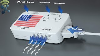 DOACE 2200W Voltage Converter and Adapter with 4-Port USB REVIEW