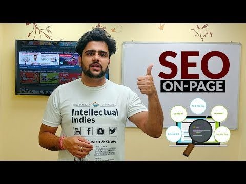 On Page SEO - Search Engine Optimisation - Complete On Page SEO Technique in HINDI