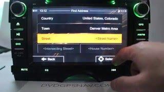 Toyota Mark X Navigation DVD Player Upgrade With GPS Navigation System