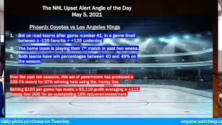 Free NHL Picks and Hockey Betting Predictions for 5-5-2021 with John Ryan