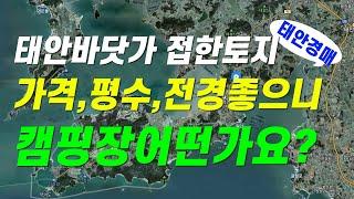 (변경)태안바닷가 접한토지 가격,평수, 전경, 도로등 …