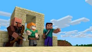 ЖИЗНЬ и ПРИКЛЮЧЕНИЯ СТИВА(3 части) - Майнкрафт анимация и мультики для детей