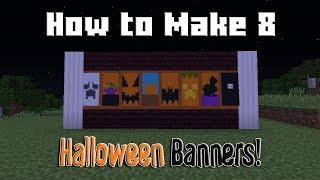 Minecraft - How to Make 8 Halloween Banners! (Minecraft Tutorial)