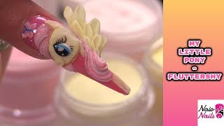 Tutorial Nail Art 💅 My Little Pony 🦄  Fluttershy 3D in Acrilico 🦄 Tutorial Naio Nails