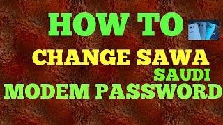 how to change stc saudiarabia modem wifi  password