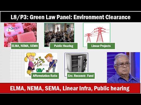 L8/P3: Environment Clearance- ELMA, NEMA, SEMA, Public hearing, Linear infra.