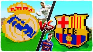 👉 Casa de REAL MADRID vs casa de F.C. BARCELONA - MINECRAFT