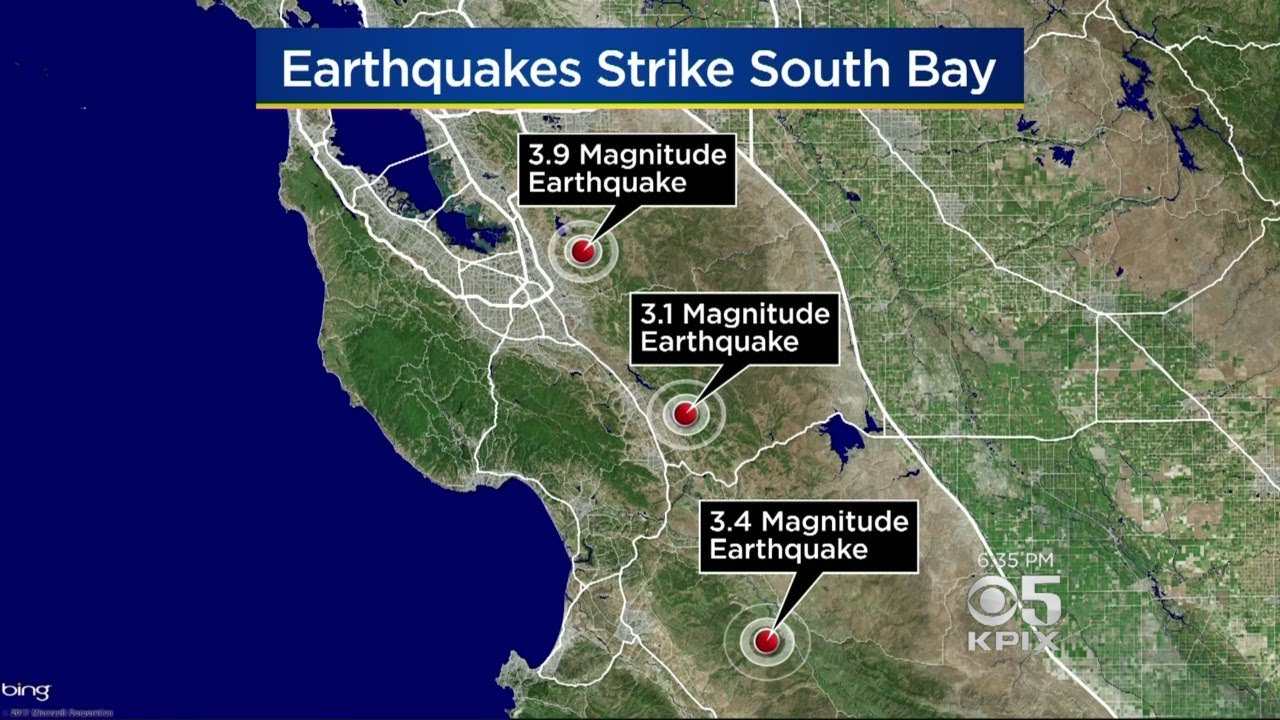 3 earthquakes jolt the south bay in 24 hours