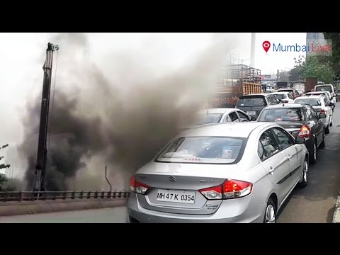 Gas leaking out of the Mahanagar gas pipeline jams traffic | Mumbai Live