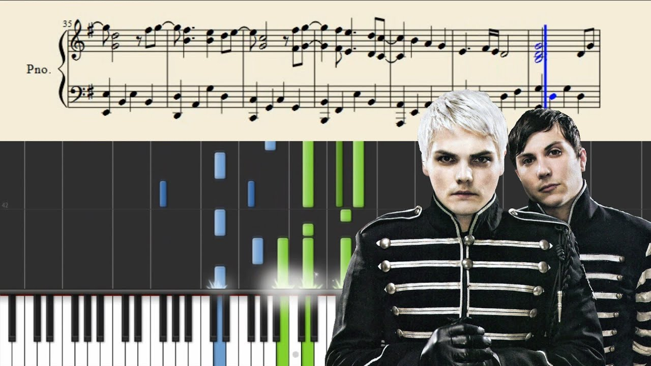 My Chemical Romance Welcome To The Black Parade Piano Tutorial