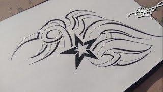 pen tattoo simple tribal draw