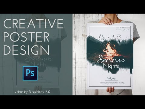 CREATIVE POSTER/FLYER DESIGNING TUTORIAL | ADOBE PHOTOSHOP | GRAPHICITY RZ thumbnail