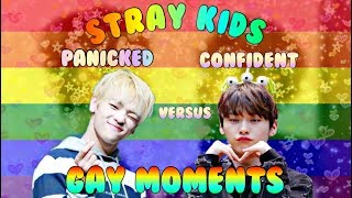 STRAY KIDS: PANICKED AND CONFIDENT GAY MOMENTS