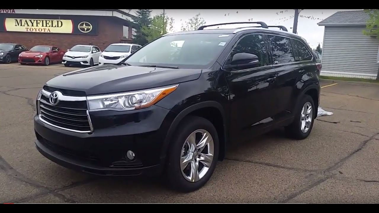2016 Toyota Highlander V6 Limiited Awd In Black Walk Around And Review