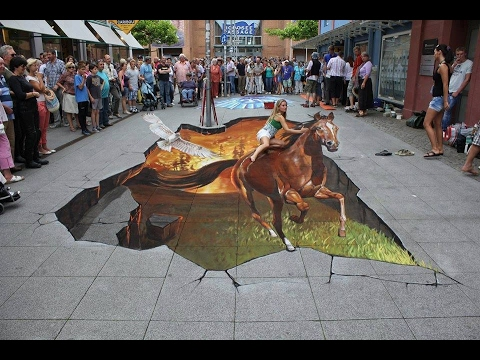 how to draw a 3d street