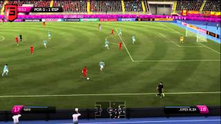 Gameplay FIFA 12 Euro 2012 Portugal - Spanje [PC, PlayStation 3, Xbox 360]