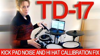 TD17 KICK PAD VOLUME & HI HAT FIX #rolandtd17kvx #kd10 #tooloud #tutorial #guide