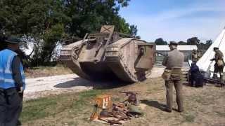 WW1 German A7V and British Mk IV tanks
