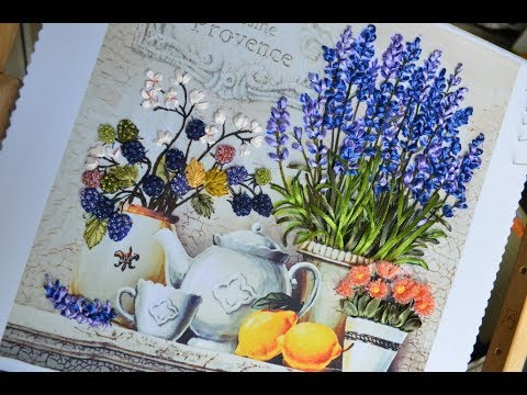 Ribbon Embroidery Lavender \ вышивка лентами лаванда