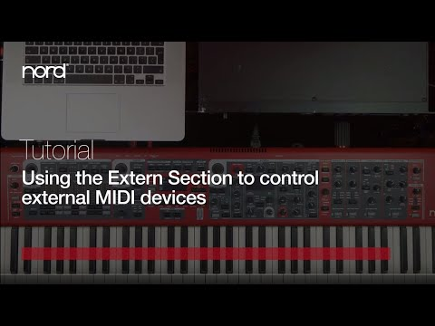 Nord Tutorial | Using The Extern Section Of The Stage 3 To Control External MIDI Devices