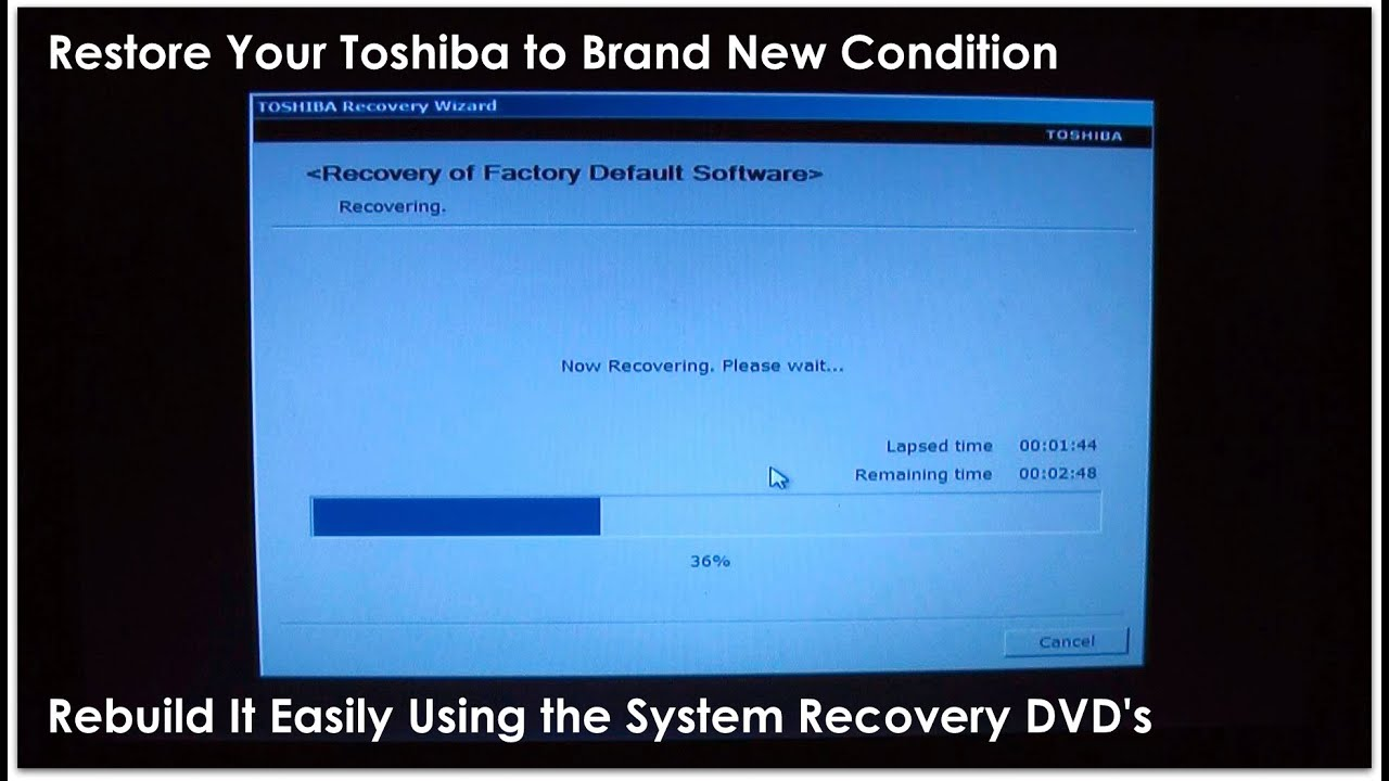 Fix Your Toshiba Like New! - Complete System Recovery Process - YouTube