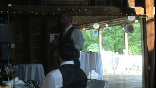 Blackburn Mainville Wedding Grooms Toast and Father of the Bride Toast