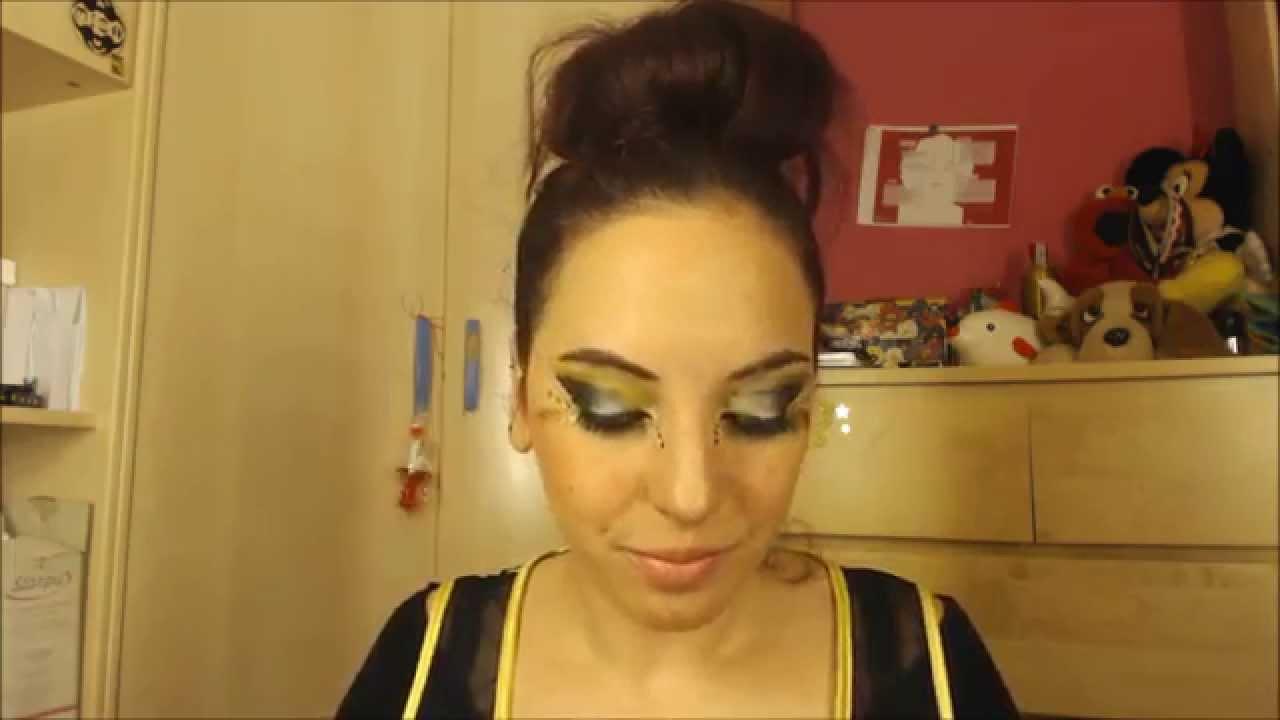 Maquillaje de Ojos para Carnaval ABEJITA DIMAYA YouTube