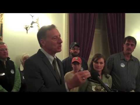 Clean Water Day - Vermont Governor Peter Shumlin