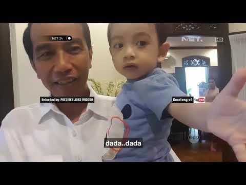 Presiden Jokowi Mengasuh Cucu