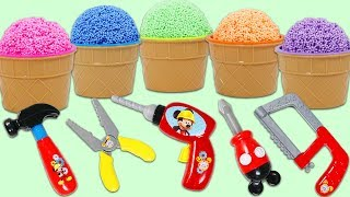 PLAY FOAM Surprise Cups Opening with Disney Mickey Mouse Tools!