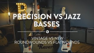 precision vs jazz basses early vintage vs american professional series reverb shootout demo