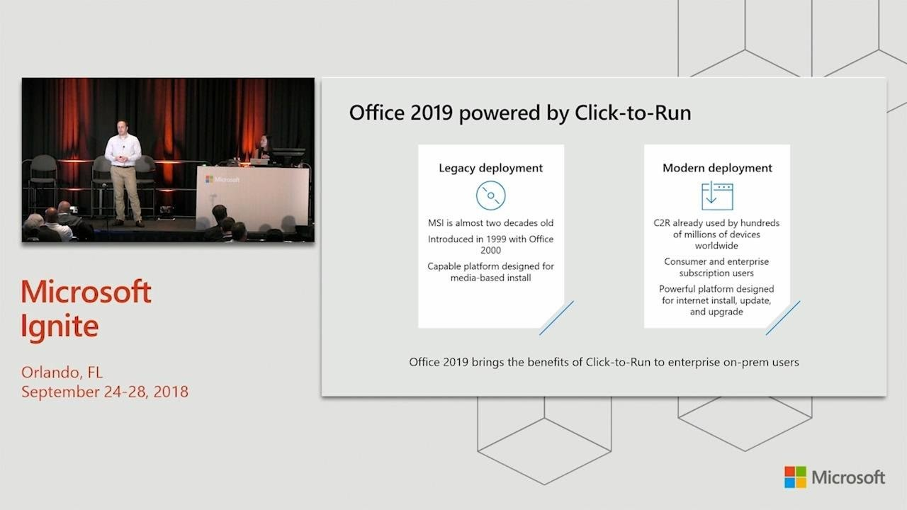 What's new in Office 2019 for features and deployment - BRK1077