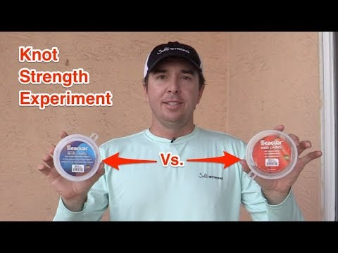 Seaguar Fluorocarbon Leader Strength Experiment [Blue Label Vs. Red Label]