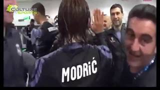 Real Madrid celebrate in dressing room 2017 HD