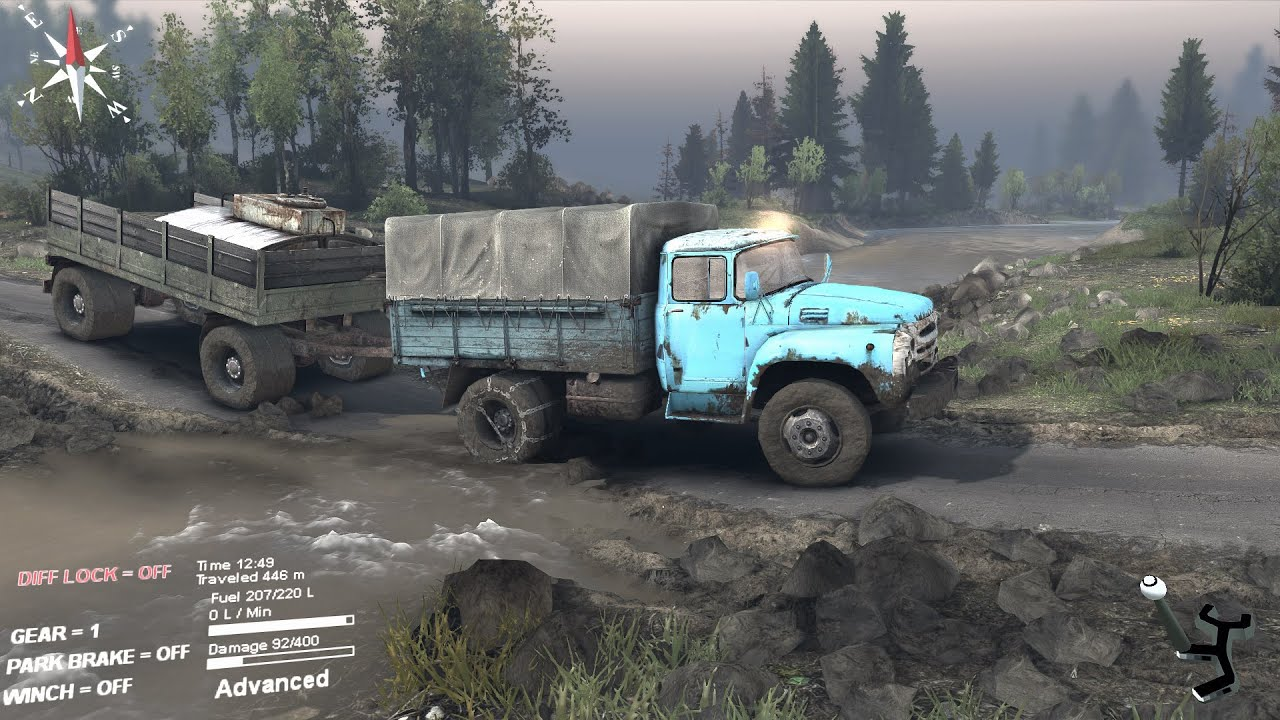 Spintires zil 130 with two trailers going uphill the hill map spintires zil 130 with two trailers going uphill the hill map youtube sciox Images