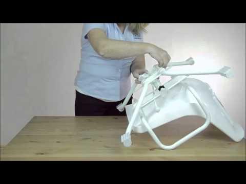 sedia girevole per vasca da bagno con larghezza regolabile