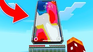 GIANT WORKING iPHONE X IN MINECRAFT