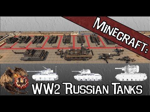 Minecraft Designs: WW2: Russian Tanks